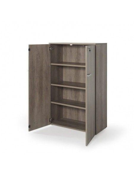 Armario oficina con puertas, cerradura y estantes de JGorbe en color nebraska