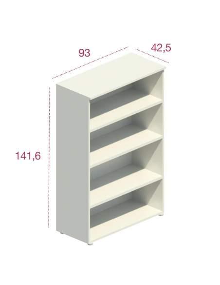 Medidas armario oficina mediano de madera sin puertas de jgorbe