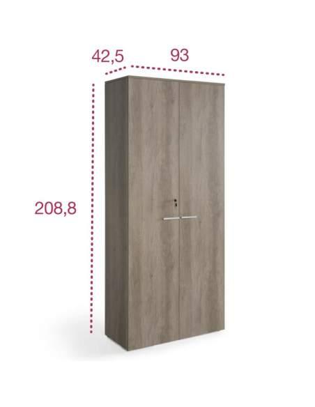 Medidas armario oficina alto con puertas y cerradura de jgorbe