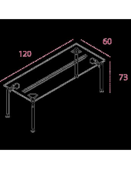Medidas mesa auxiliar oficina serie eco de jgorbe