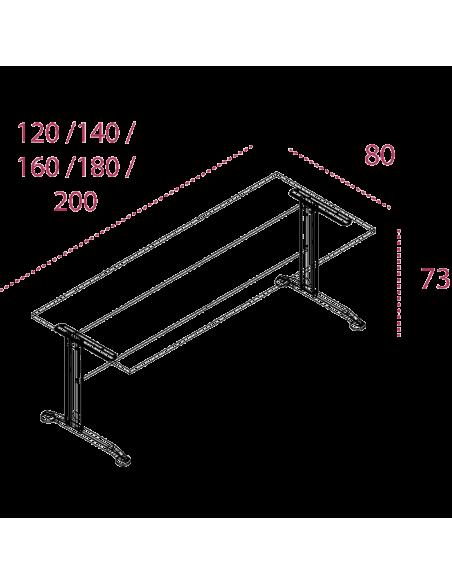 Medidas mesa de trabajo aneto de jgorbe
