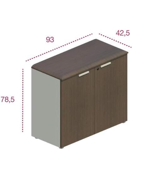 Medidas armario oficina bajo con puertas jgorbe