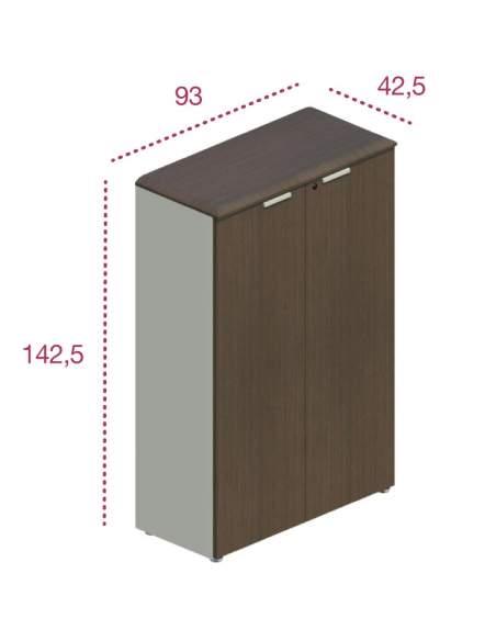 Medidas armario oficina madera con puertas de jgorbe