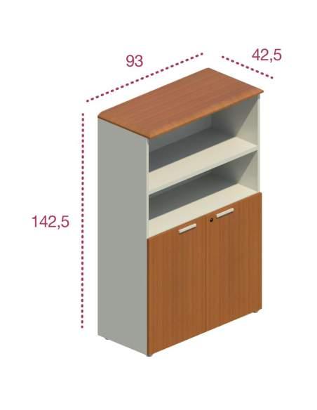 Medidas armario madera oficina puertas bajas jgorbe