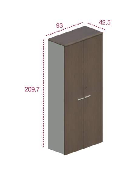 Medidas armario alto con puertas despacho oficina de jgorbe
