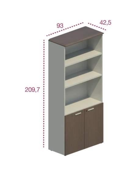 Medidas mueble oficina con puertas bajas de jgorbe