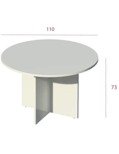 Medidas mesa reuniones redonda serie Color de Jgorbe