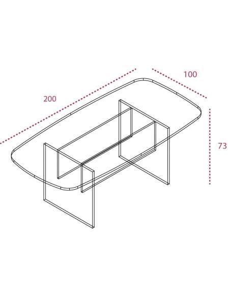 Medidas mesa de reunion rectangular de jgorbe