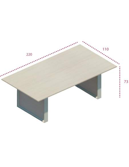 Medidas mesa reuniones sala de juntas omega de jgorbe