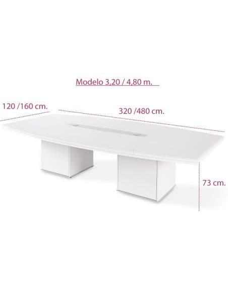Medidas mesa reuniones grande de oficina jgorbe