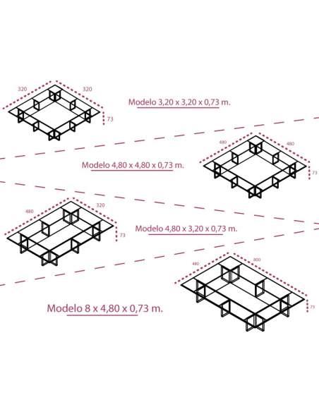Medidas mesa de juntas y plenos de jgorbe