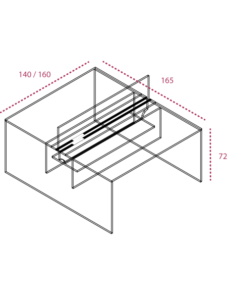 Medidas mesas trabajo en grupo pie panel con separador jgorbe