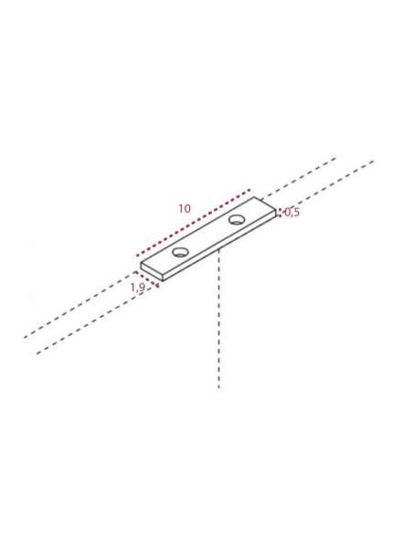 Medidas pletina de unión para biombos separadores de jgorbe