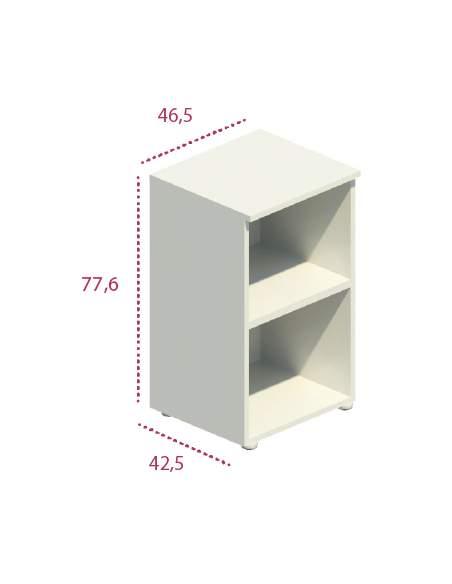 Medidas estantería estrecha de madera de jgorbe