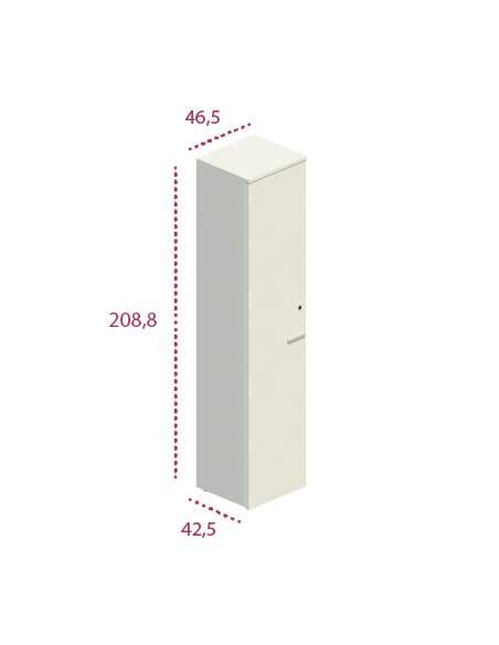 Medidas armario alto estrecho de madera de jgorbe