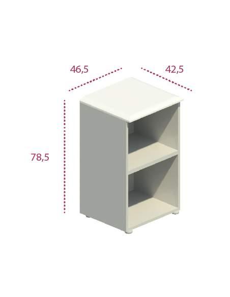 Medidas estantería baja estrecha despacho de jgorbe