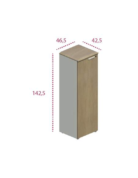 Medidas armario madera estrecho con puerta de jgorbe