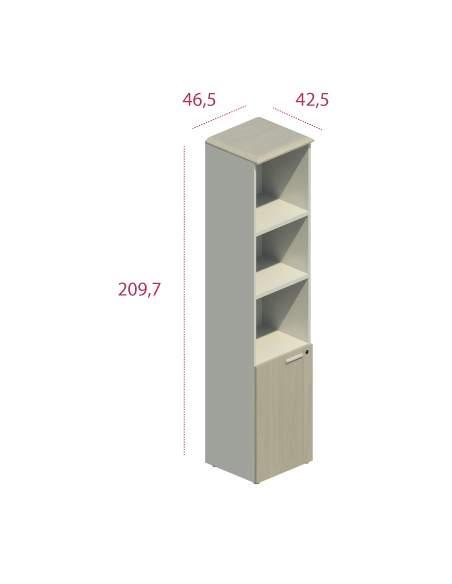 armario alto madera con puerta baja jgorbe