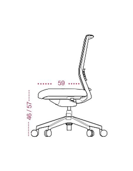 Medidas sillón confidente astor fijo de tecno-ofiss