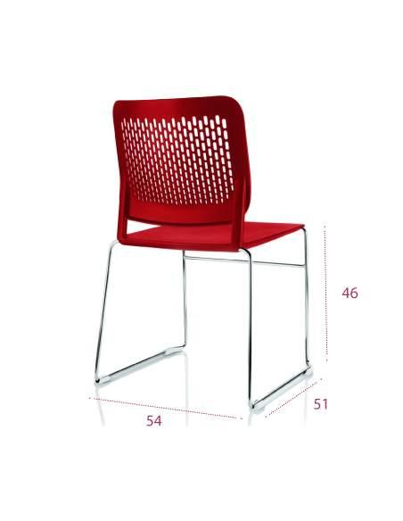 Medidas silla confidente kali de tecno-ofiss