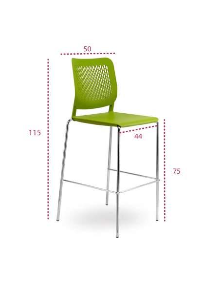 Medidas taburete silla alta kali de tecno-ofiss