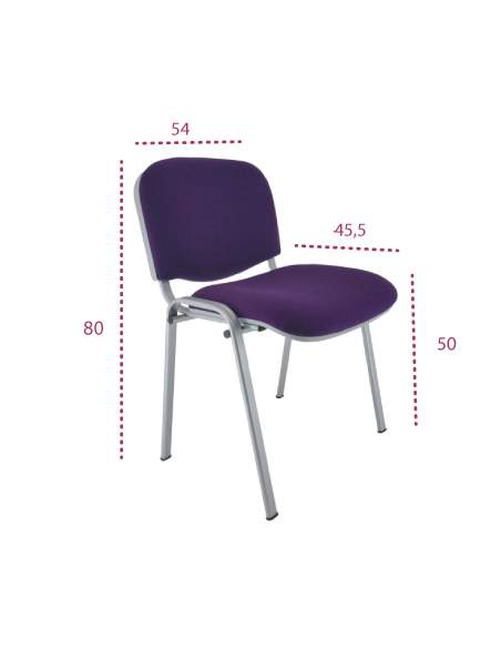 Medidas silla oficina confidente fissa de vincolo