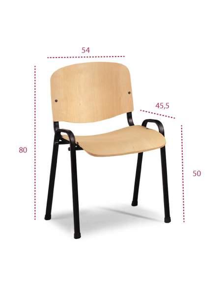 Medidas silla de madera fissa de vincolo