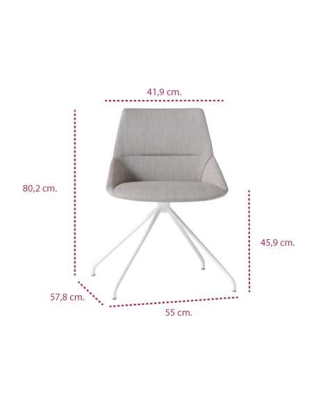 Medidas silla moderna dunas xs piramidal de inclass