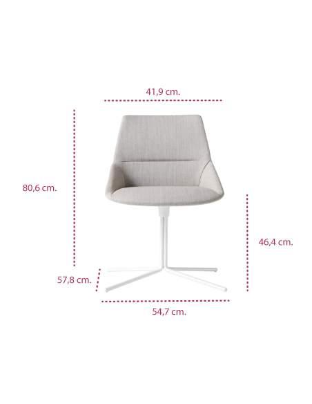 Medidas silla moderna dunas xs con base plana de inclass