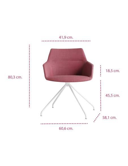 Medidas sillón diseño moderno dunas xs con base piramidal de inclass