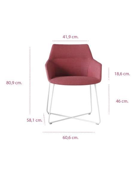 Medidas sillón moderno dunas xs pie varilla de inclass