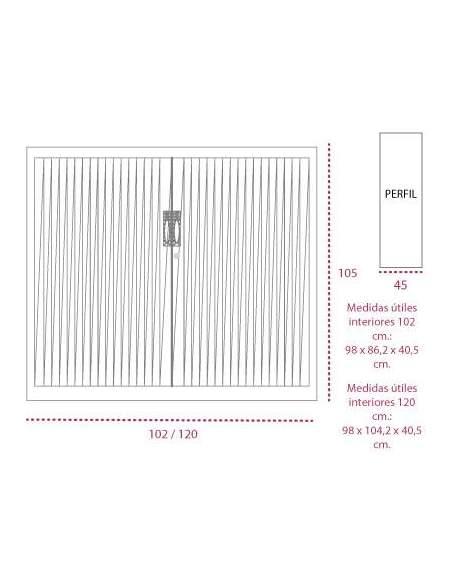 Medidas armario metálico persiana vertical de gapsa