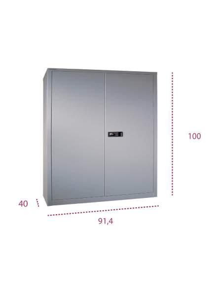 Medidas armario metálico con puertas abatibles de bisley