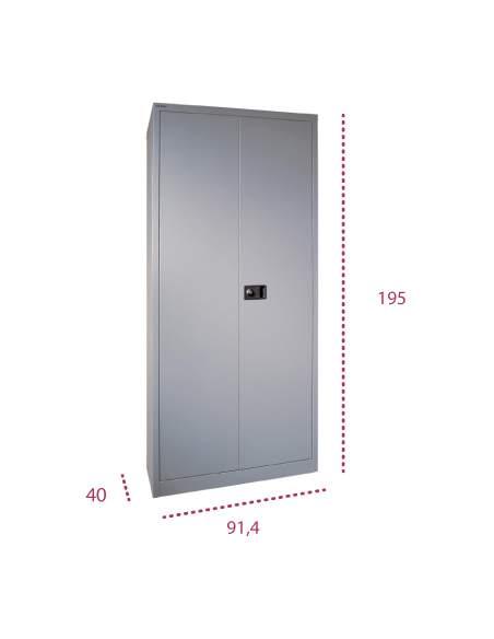 Medidas armario oficina metálico con puertas abatibles de bisley