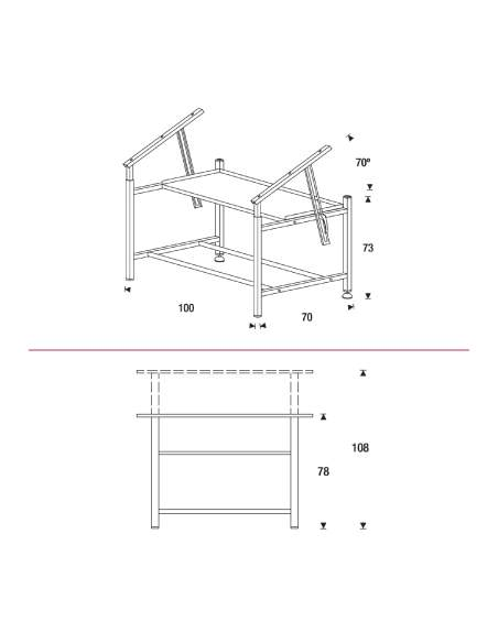 Medidas mesa de dibujo técnico de rocada