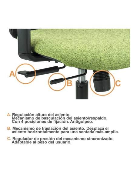 Mecanismo disponible para silla oficina Anthea de tecno-ofiss