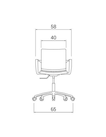 Medidas silla de estudio Atenea de dileoffice