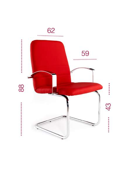 Medidas silla confidente Confort de tecno-ofiss