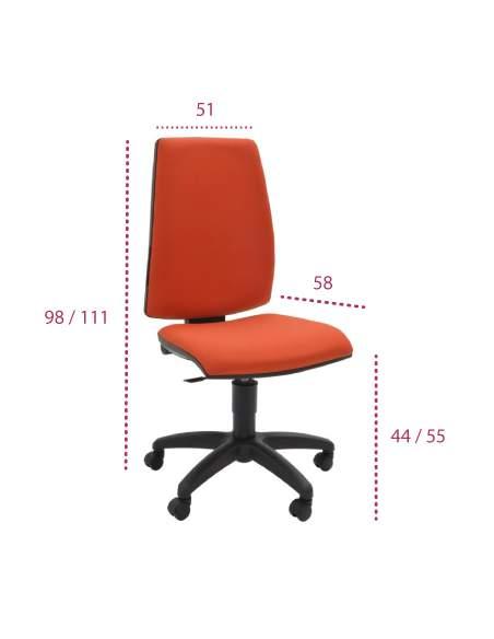 Medidas silla escritorio open de tecno-ofiss con mecanismo sincro