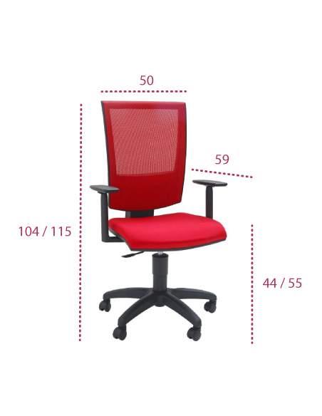 Medidas silla ordenador open red de tecno-ofiss