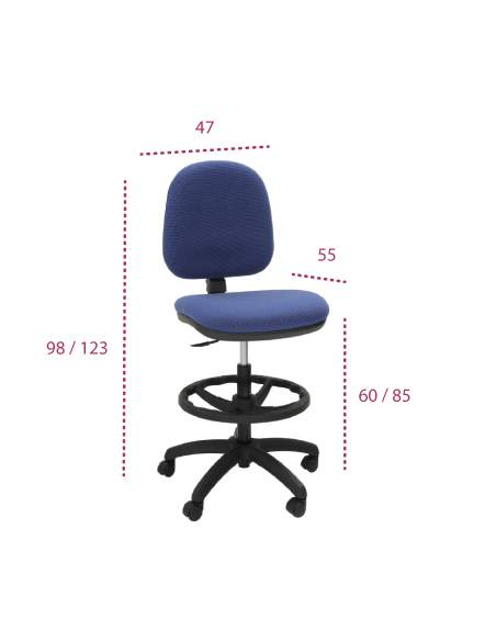 Medidas taburete oficina ocp de tecno-ofiss