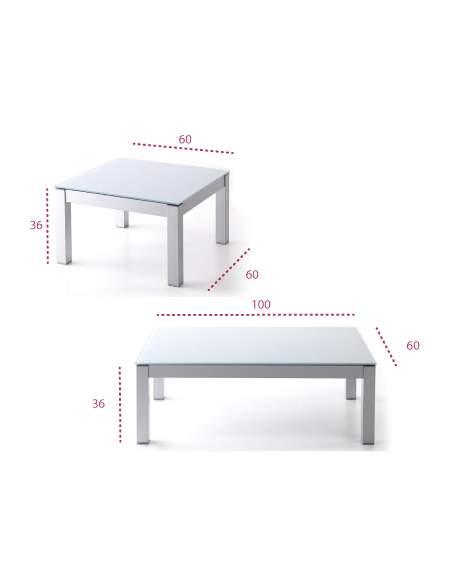 Medidas mesa baja de centro Altea de tecno-ofiss