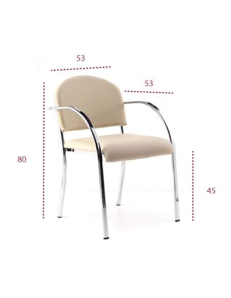 Medidas silla confidente tefis de tecno-ofiss