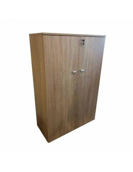 Armario oficina con puertas, cerradura y estantes de JGorbe en olmo