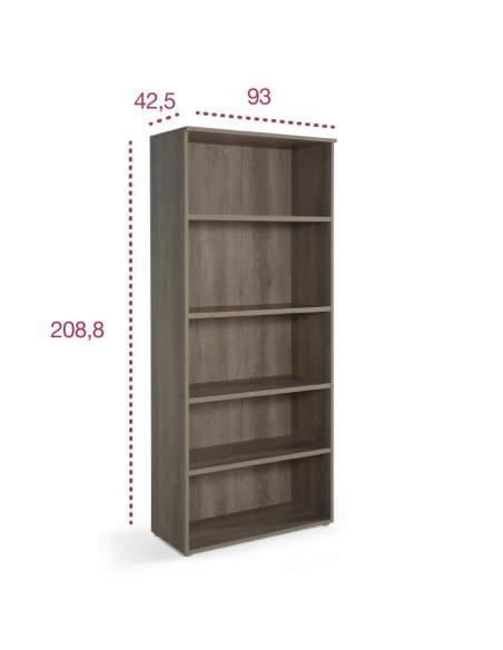 Medidas armario de madera alto sin puertas de jgorbe con entrega rápida