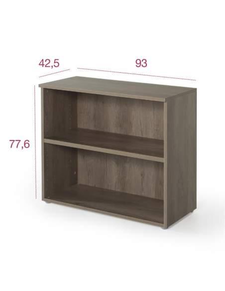 Medidas armario madera bajo con 1 estante para oficina de jgorbe con entrega rápida