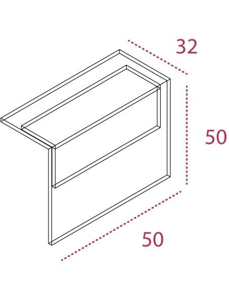 Medidas panel decorativo para mostrador recepcion basic de jgorbe con entrega rapida