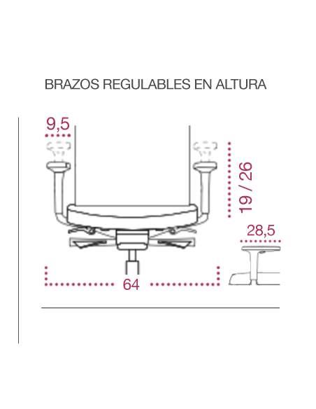 Medidas sillas ergonomicas victory de kulik system brazos