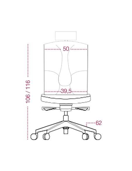 Medidas silla ergonomica victory de kulik system