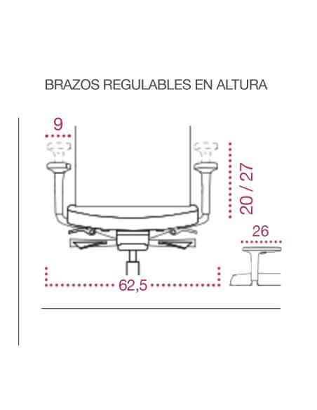 Medidas brazos sillas ergonómicas classic de jgorbe